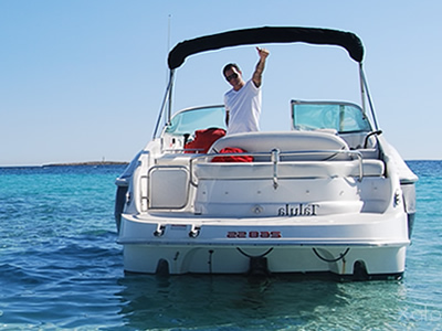 Monterey 268 SS for rent in Ibiza